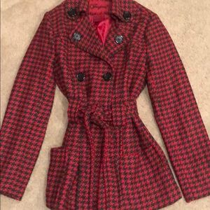 Beautiful red and green coat